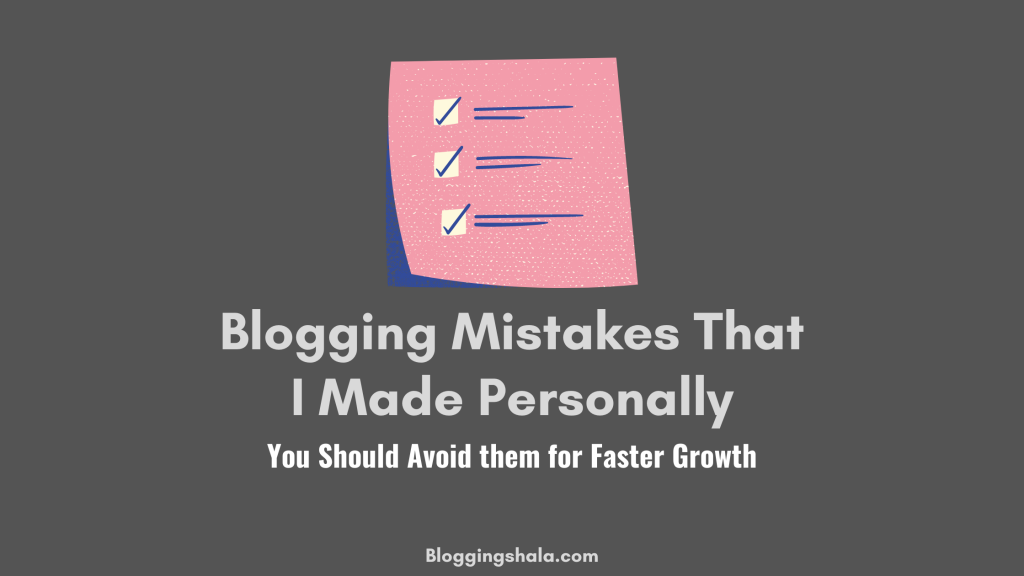 Beginner blogging mistakes