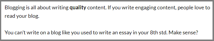 writing flow example
